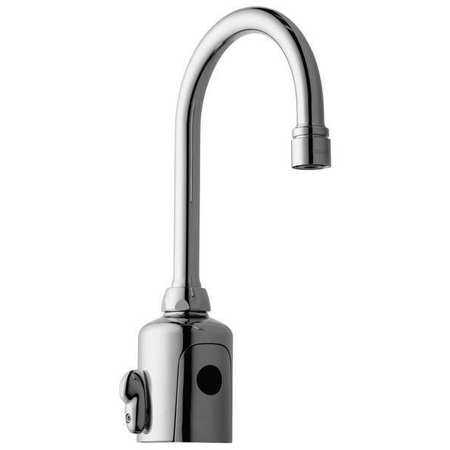 Rigid Gooseneck Bathroom Faucet, Chrome Plated, 1 Hole