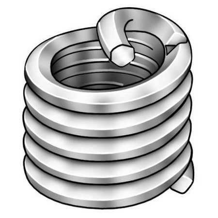 Helical Insert, SS, 8-32, 0.246 In L, PK10