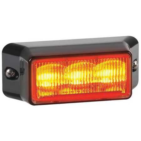 LED Warning Light, Amber, Surf, Rec, 3-1/2L