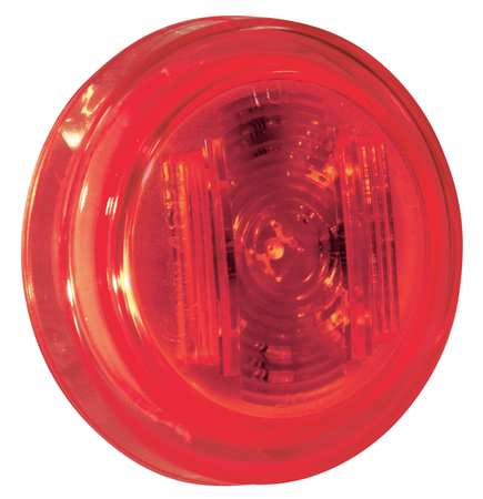 Clearance/Marker, 2.5In., PC Rated, LED, Red