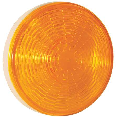 Stop/Tail/Trn Lamp, LED, Dia 4-5/16 In, Ylw
