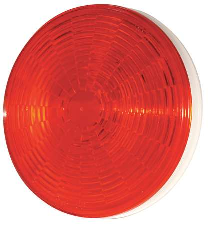 Stop/Tail/Trn Lamp, LED, Dia 4-5/16 In, Red
