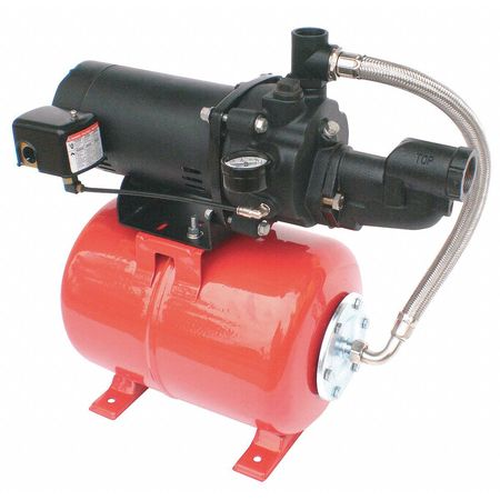 Shallow Well Jet Pump Sys, 3/4HP, 115/230V
