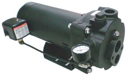 Convertible Jet Pump, CI, 1/2HP, 115/230V