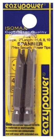 Spanner Power Bit Set, Pieces 4