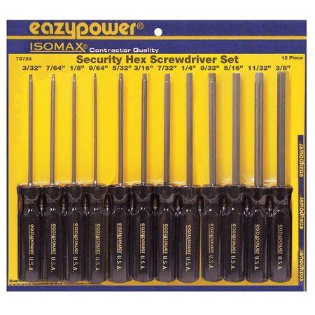 Security Screwdriver Set, Hex, 12 Pc