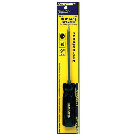 Tamper Resist Screwdriver, Spanner, #8x5In