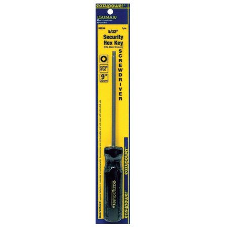Tamper Resist Screwdriver, TR Hex, 5/32x5