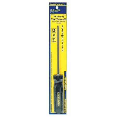 Tamp Resist Screwdriver, Torq-Set(R), #6x5