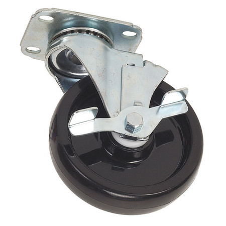 Swivel Plate Caster, Polyolfin, 3-1/2 in, 250 lb