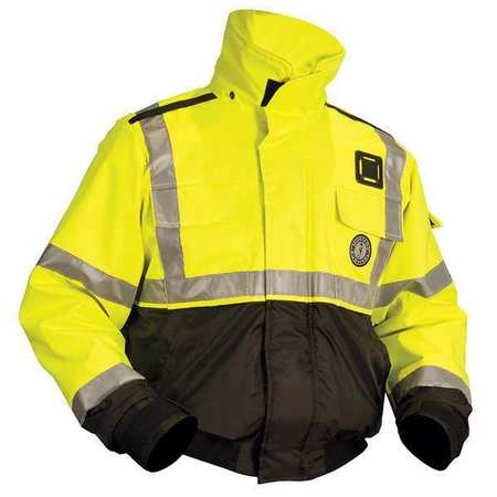 Flotation Jacket, ANSI Yellow Green, XXL