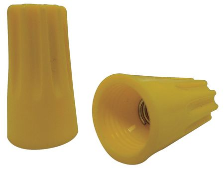 Wire Connector,  Yellow, PK100