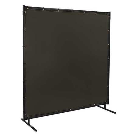 Welding Screen, 6 ft W, 6 ft, Charcoal Gray