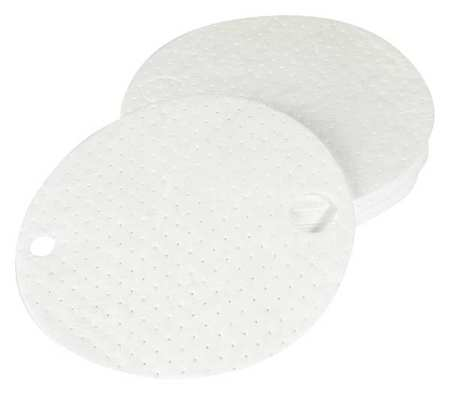 Drum Top Pad, Oil-Based Liquid, White, PK25