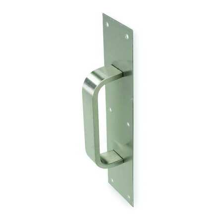 Pull Plate, Rectangle Grip, Brass, 3 x12 In