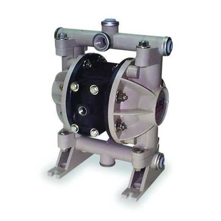 "1/2"" Polypropylene Air Double Diaphragm Pump 13 GPM 150F"