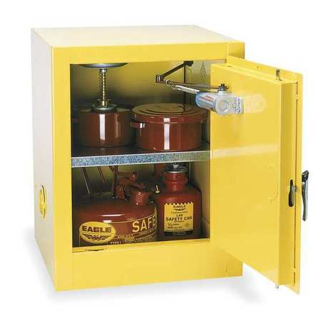 Flammable Safety Cabinet, 4 Gal., Yellow