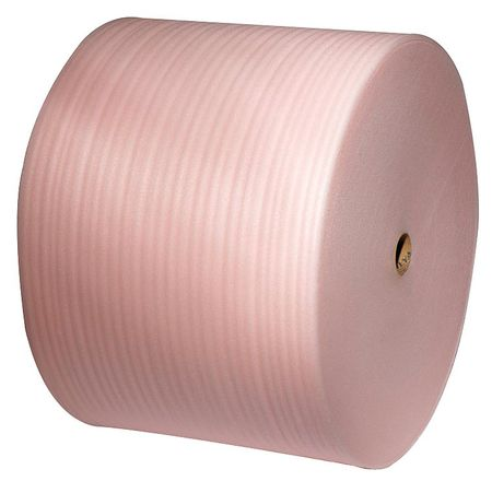 "Anti-Static Foam Roll 12"" x 550 ft.,  1/8"" Thickness,  Pink,  Pk6"