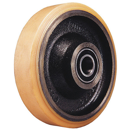 Caster Wheel, Plyurethane, 8 in., 3950 lb.