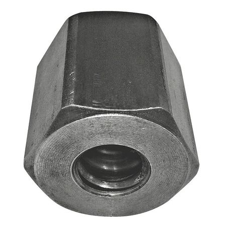 "1-1/4""-3-1/2 Plain Finish Carbon Steel Heavy Hex Nuts,  5 pk."
