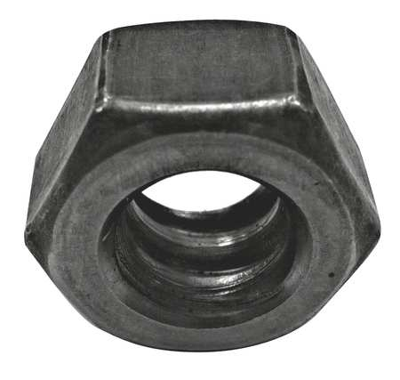 "1""-3-1/2 Plain Finish Carbon Steel Hex Nuts,  10 pk."