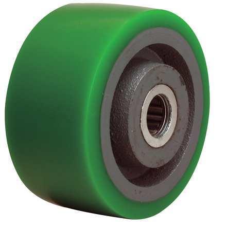 Caster Wheel, Polyurethane, 4 in., 750 lb.