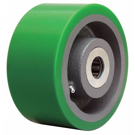 Caster Wheel, Polyurethane, 6 in., 2200 lb.