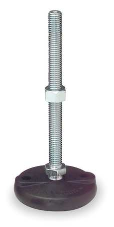 Leveling Mount, Swivel Stud, M12, 4 in Base