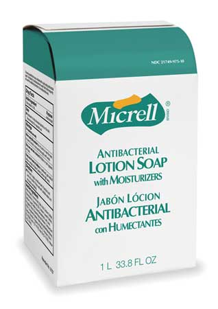 MICRELLAntibacterial Soap Refill, Lotion, 85oz, PK8