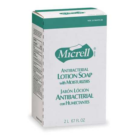 MICRELLAntibacterial Soap Refill, Lotion, 800 mL, PK4