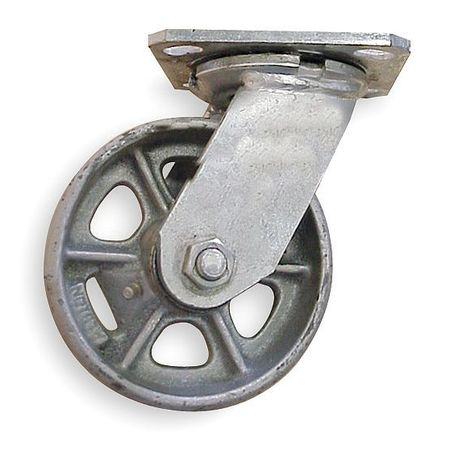 5VP57 Swivel Plate Caster, 8 in. Dia., 1250 lb.