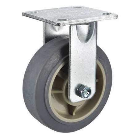 Rigid Plate Caster, TPR, 5 in., 375 lb.