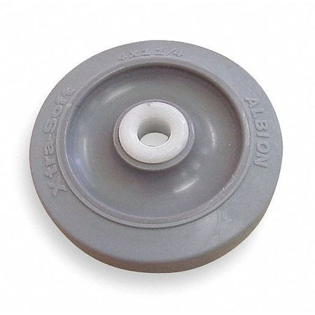 Caster Wheel, Gray, 70 Shore A, 1/2 in Bore