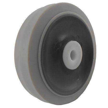 Caster Wheel, Gray, 70 Shore A, 1/2 in Bore