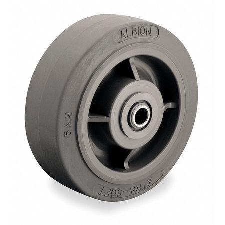 Caster Wheel, TPR, 6 in., 600 lb., Gray