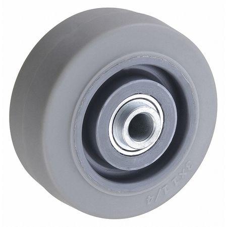 Caster Wheel, TPR, 3 in., 200 lb., Gray Core