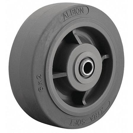 Caster Wheel, TPR, 5 in., 375 lb., Gray