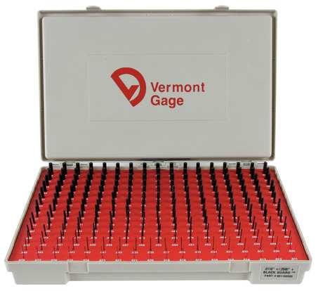Pin Gage Set, Plus, 0.011-0.250 In, Black