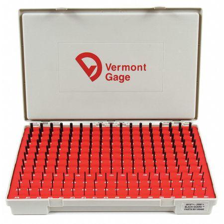 Pin Gage Set, Plus, 0.061-0.250 In, Black