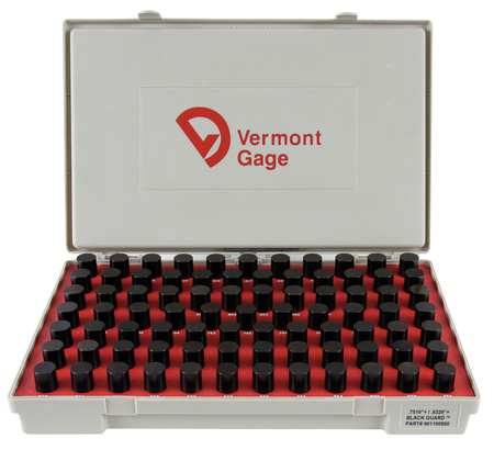 Pin Gage Set, Plus, 0.751-0.832 In, Black
