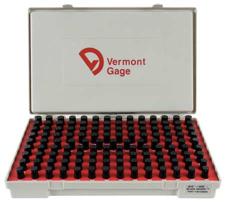 Pin Gage Set, Minus, 0.501-0.625 In, Black
