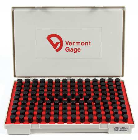 Pin Gage Set, Minus, 0.626-0.750 In, Black