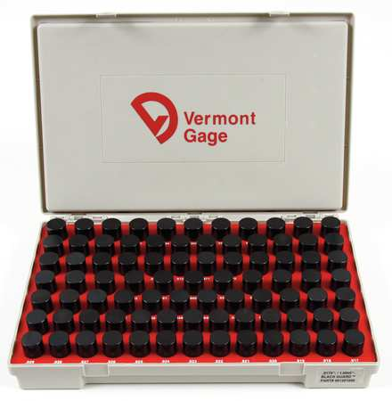 Pin Gage Set, Plus, 0.20-1.28mm, Black