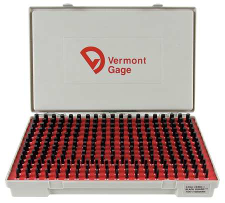 Pin Gage Set, Plus, 5.01-9.99mm, Black