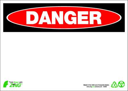 Danger Sign, 10 x 14In, R and BK/WHT, BLK