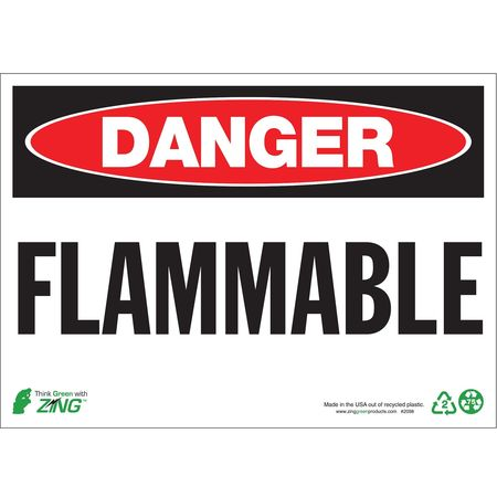 Danger Sign, 10 x 14In, R and BK/WHT, FLMB