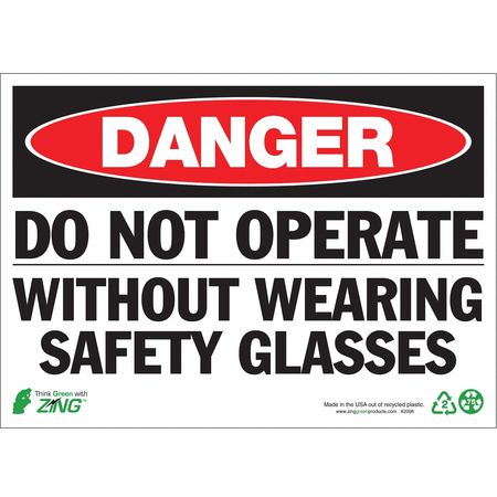 Danger Sign, 10 x 14In, R and BK/WHT, ENG