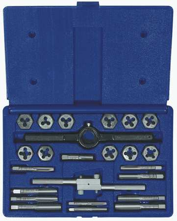 Tap and Die Set, 24 pc, High Carbon Steel