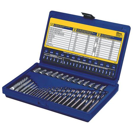 Screw Extractor/Drill Set, 35 Pcs