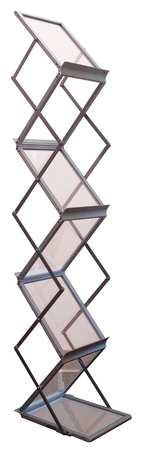 Portable Literature Floor Stand,  6 shelf